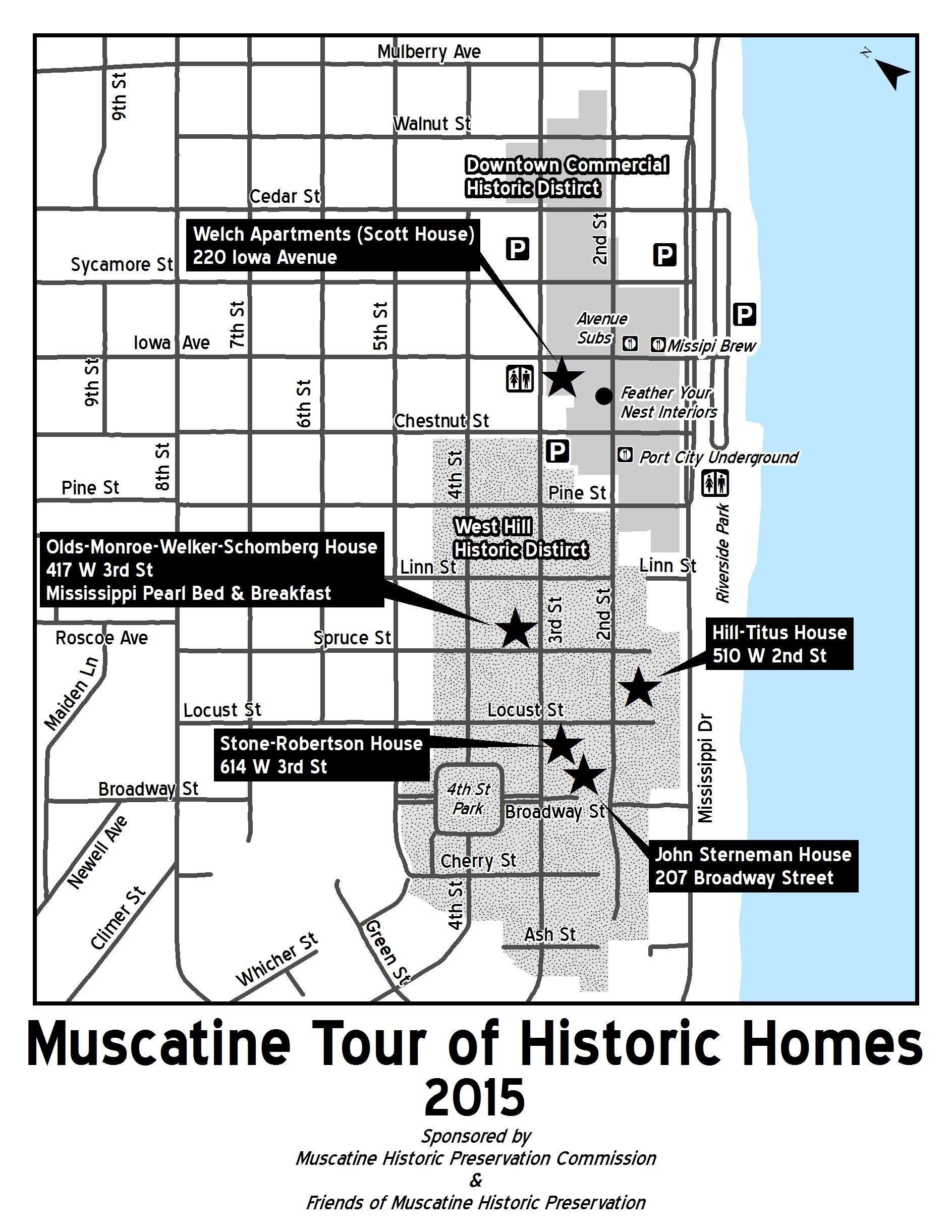Muscatine Tour of Historic Homes BW
